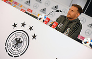 Benedikt Hoewedes  of Germany speaks during a press conference at Stadio Communale, Ascona<br /> Picture by EXPA Pictures/Focus Images Ltd 07814482222<br /> 31/05/2016<br /> ***UK &amp; IRELAND ONLY***<br /> EXPA-EIB-160531-0022.jpg