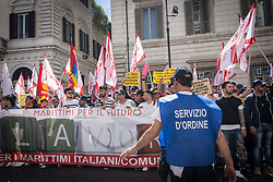 May 3, 2017 - Rome, Italy, Italy - Protest of the Maritime Association from Torre del Greco to Rome to claim their rights. (Credit Image: © Andrea Ronchini/Pacific Press via ZUMA Wire)