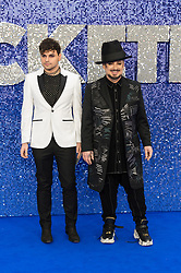 May 20, 2019 - London, England, United Kingdom - Boy George (R) arrives for the UK film premiere of 'Rocketman' at Odeon Luxe, Leicester Square on 20 May, 2019 in London, England. (Credit Image: © Wiktor Szymanowicz/NurPhoto via ZUMA Press)