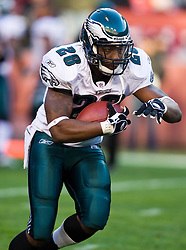 Philadelphia Eagles running back Correll Buckhalter (28).  The Washington Redskins defeated the Philadelphia Eagles 10-3 in an NFL football game held at Fedex Field in Landover, Maryland on Sunday, December 21, 2008.