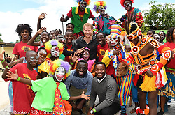 """Kensington Palace releases a photo on Twitter with the following caption: """"""""""""We established The @QueensComTrust to be your platform. The place where your voices can be heard, where your work is seen and taken seriously, and your experiences and insight are shared with others to create the maximum impact."""" — The Duke of Sussex #RoyalVisitZambia"""""""". Photo Credit: Twitter *** No USA Distribution *** For Editorial Use Only *** Not to be Published in Books or Photo Books ***  Please note: Fees charged by the agency are for the agency's services only, and do not, nor are they intended to, convey to the user any ownership of Copyright or License in the material. The agency does not claim any ownership including but not limited to Copyright or License in the attached material. By publishing this material you expressly agree to indemnify and to hold the agency and its directors, shareholders and employees harmless from any loss, claims, damages, demands, expenses (including legal fees), or any causes of action or allegation against the agency arising out of or connected in any way with publication of the material."""