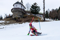 03.01.2020, Hochstein, Lienz, AUT, OeSV, Training Slalom, im Bild Christian Hirschbühl (AUT) // Christian Hirschbühl of Austria during a Slalom training session in preparation for the upcoming FIS Alpine Skiing World Cup Zagreb at the Hochstein in Lienz, Austria on 2020/01/03. EXPA Pictures © 2019, PhotoCredit: EXPA/ Lukas Huter