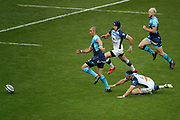 Ruan PIENAAR (Montpellier Herault Rugby), Thomas COMBEZOU (Castres Olympique) on the floor during the French Championship Top 14 rugby union match between Montpellier Herault rugby and Castres Olympique on June 2, 2018 at Stade de France in Saint-Denis near Paris, France - Photo Stephane Allaman / ProSportsImages / DPPI