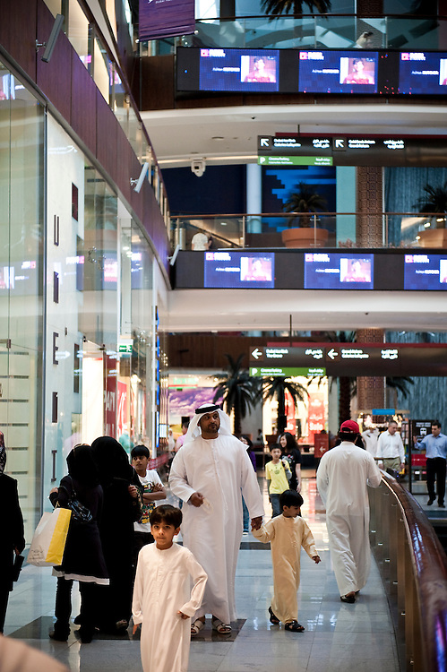 Arab family at Dubai Mall,Dubai, UAE on February 10,2010