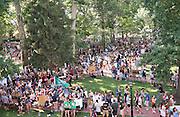 Student activities fair on College Green. Photo by Ben Siegel