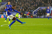 Goal Leicester City defender Ricardo Pereira (21) scores a goal 2-0 during the Premier League match between Leicester City and West Ham United at the King Power Stadium, Leicester, England on 22 January 2020.