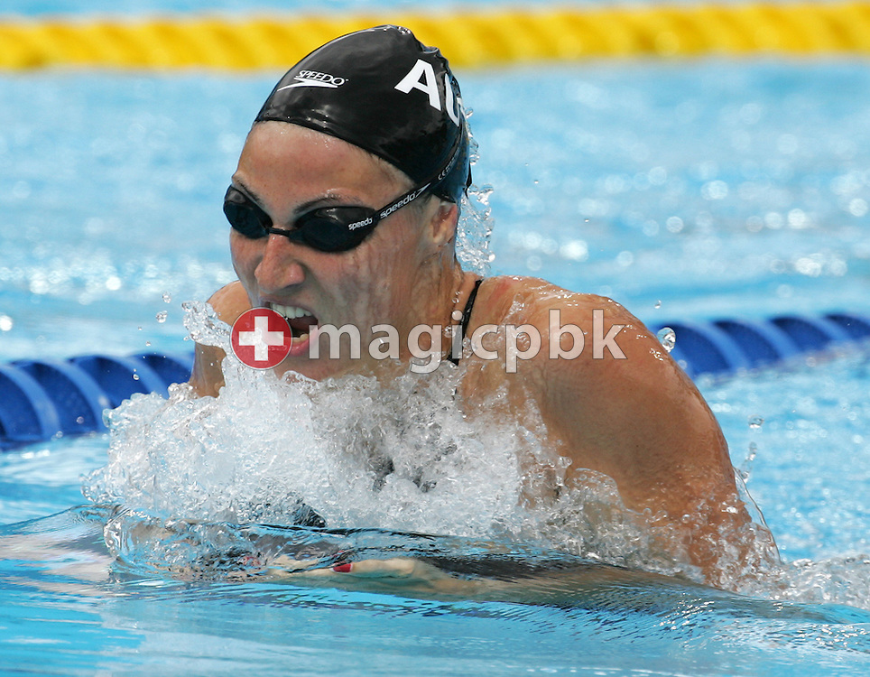 Austria's Mirna Jukic swims in the fifth heat of the women's 100m Breaststroke at the FINA World Championships in Montreal, Quebec Monday 25 July, 2005.  (Photo by Patrick B. Kraemer / MAGICPBK)