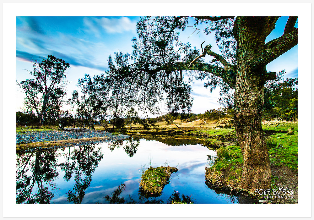 Late afternoon on a quiet corner of the Macintyre River, upstream from Inverell [Paradise, NSW, Australia]<br /> <br /> To order please email orders@girtbyseaphotography.com quoting the image title or reference number, and your preferred print size. You will receive a quick reply recommending print media options to best suit your chosen image, plus an obligation-free quotation. See the pricing page for current standard size prices.