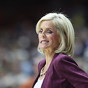 STORRS, CONNECTICUT- NOVEMBER 17: Baylor Head coach Kim Mulkey reacts on the sideline during her sides loss during the UConn Huskies Vs Baylor Bears NCAA Women's Basketball game at Gampel Pavilion, on November 17th, 2016 in Storrs, Connecticut. (Photo by Tim Clayton/Corbis via Getty Images)