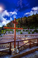 &quot;The evening sun shines on the cross at the Convent of Celle Cortona&quot;...<br />
