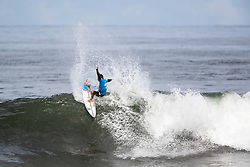 Peterson Crisanto of Brazil advances to round 4 after placing first in round 3 heat 5 ​of the 2018 Hawaiian Pro at Haleiwa, Oahu, Hawaii, USA.