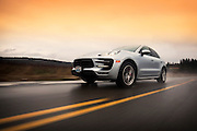 Automotive Car Photographer and Videographer Randy Wells, Image of a 2014 Porsche Macan Turbo CUV on a road near Seattle, Washington,  Pacific Northwest