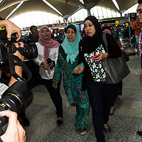Family members of missing Malaysia Airlines flight arrived at Family Friend Reception Centre at Kuala Lumpur International Airport, Sepang, Selangor, Malaysia 8 May 2014.  MAS flight carrying 227 passengers to Beijing has lost contact with Malaysianair traffic control.