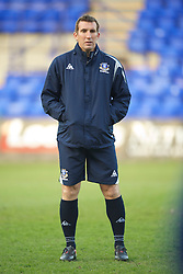 BIRKENHEAD, ENGLAND - Tuesday, April 20, 2010: Everton's reserve team coach Alan Stubbs before the FA Premiership Reserves League (Northern Division) match against Liverpool at Prenton Park. (Photo by David Rawcliffe/Propaganda)