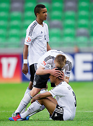 Jeremy Dudziak of Germany and Nico Brandenburger of Germany during the UEFA European Under-17 Championship Final match between Germany and Netherlands on May 16, 2012 in SRC Stozice, Ljubljana, Slovenia. Netherlands defeated Germany after penalty shots and became European Under-17 Champion 2012. (Photo by Vid Ponikvar / Sportida.com)