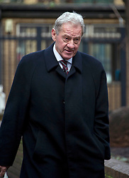 Milan Mandaric arrives at Southwark Crown Court for the Tottenham Hotspur manager Harry Redknapp trial . Mr Redknapp is faces charges of Tax Evasion dating back to between 2002 and 2004, when he was the Portmouth's manager. According to reports payments were made to Mr Redknapp's Monaco bank account in the name of his dog Rosie. His son Jamie is in the background Photo By i-images