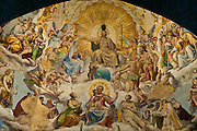 A fresco inside the Duomo Basilica Cathedral Church in Florence, Italy depicts Jesus Christ on Judgment Day. The Fresco was completed in the 1500s. (Sam Lucero photo)