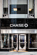 The Art Deco exterior of a Chase bank branch in the Chrysler Building