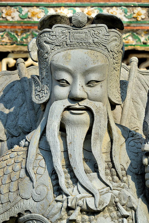 Chinese Statue From Ship Ballast at Wat Arun in Bangkok, Thailand <br />