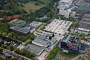 Nederland, Noord-Holland, Hilversum, 28-04-2010; Mediapark met Nederlands Instituut voor Beeld en Geluid..Media Park with Dutch Institute for Sound and Vision.luchtfoto (toeslag), aerial photo (additional fee required).foto/photo Siebe Swart