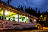 Restaurante na Praia da Tapera ao anoitecer. Florianópolis, Santa Catarina, Brasil. / Restaurant at Tapera Beach at evening. Florianopolis, Santa Catarina, Brazil.