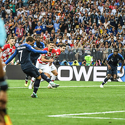 Antoine Griezmann of France score a goal during the World Cup Final match between France and Croatia at Luzhniki Stadium on July 15, 2018 in Moscow, Russia. (Photo by Anthony Dibon/Icon Sport)