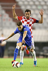 12.06.2015, Stadion Poljud, Split, CRO, UEFA Euro 2016 Qualifikation, Kroatien vs Italien, Gruppe H, im Bild Stephan El Shaarawy, Darijo Srna // during the UEFA EURO 2016 qualifier group H match between Croatia and and Italy at the Stadion Poljud in Split, Croatia on 2015/06/12. EXPA Pictures © 2015, PhotoCredit: EXPA/ Pixsell/ Igor Kralj<br /> <br /> *****ATTENTION - for AUT, SLO, SUI, SWE, ITA, FRA only*****