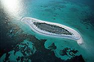 Florida. Florida Keys, Aerial view of  Island