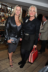 Left to right, KATIE BARKER and AMANDA ELIASCH at a party to celebrate the publication on The House of Rumour by Jake Arnott held at The Ivy Club, West Street, London on 9th July 2012.
