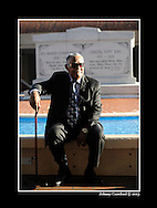 090929 - Atlanta - Rev. Joseph E. Lowery sits and waits for the prayer vigil for the reconciliation of King siblings Martin King Jr III, Bernice King and Dexter King to start on Tuesday, September 29, 2009 in front of the Tomb of Dr. Martin Luther King, Jr. and Coretta Scott King. The siblings are suing each other over the handling of the family estate.  Johnny Crawford © 2013