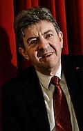Roma 1 Febbraio 2013.Manifestazione elettorale, della lista  Rivoluzione Civile sui temi  della solidarietà sociale e dei diritti civili.  Jean-Luc Melenchon, Front de Gauche....