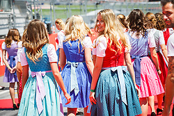 July 1, 2018 - Spielberg, Austria - Motorsports: FIA Formula One World Championship 2018, Grand Prix of Austria, .Grid girls  (Credit Image: © Hoch Zwei via ZUMA Wire)