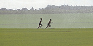 Boys Running Through Sprinklers, Cutchogue New York, North Fork, Long Island