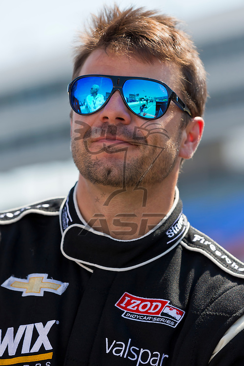 Ft WORTH, TX - JUN 08, 2012:  Oriol Servia (22) prepares to qualify for the Firestone 550 race at the Texas Motor Speedway in Fort Worth, TX.