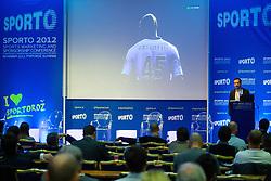 at sports marketing and sponsorship conference Sporto 2012, on November 26, 2012 in Hotel Slovenija, Congress centre, Portoroz / Portorose, Slovenia. (Photo By Vid Ponikvar / Sportida.com)