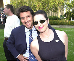 LORD COE and MISS AMANDA PLATELL advisers to William Hage<br />  leader of the Conservative Party, at a reception in London on 19th June 2000.OFM 64<br /> © Desmond O'Neill Features:- 020 8971 9600<br />    10 Victoria Mews, London.  SW18 3PY <br /> www.donfeatures.com   photos@donfeatures.com<br /> MINIMUM REPRODUCTION FEE AS AGREED.<br /> PHOTOGRAPH BY DOMINIC O'NEILL