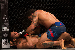 September 23, 2018 - Sao Paulo, Sao Paulo, Brazil - THIAGO SANTOS MARRETA (BRA), in black, and ERYK ANDERS (USA) fight in the octagon, during the UFC Fight Night Sao Paulo at Ibirapuera Gymnasium in Sao Paulo, Brazil. (Credit Image: © Paulo Lopes/ZUMA Wire)
