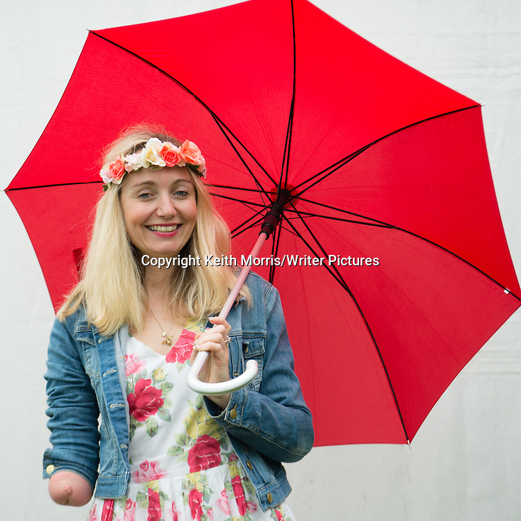 Cerrie Burnell, actress, singer, playwright, children's author, and television presenter. The Hay Festival of Literature and the Arts, Hay on Wye, Powys, Wales UK, June 01 2016<br /> <br /> Picture by Keith Morris/Writer Pictures