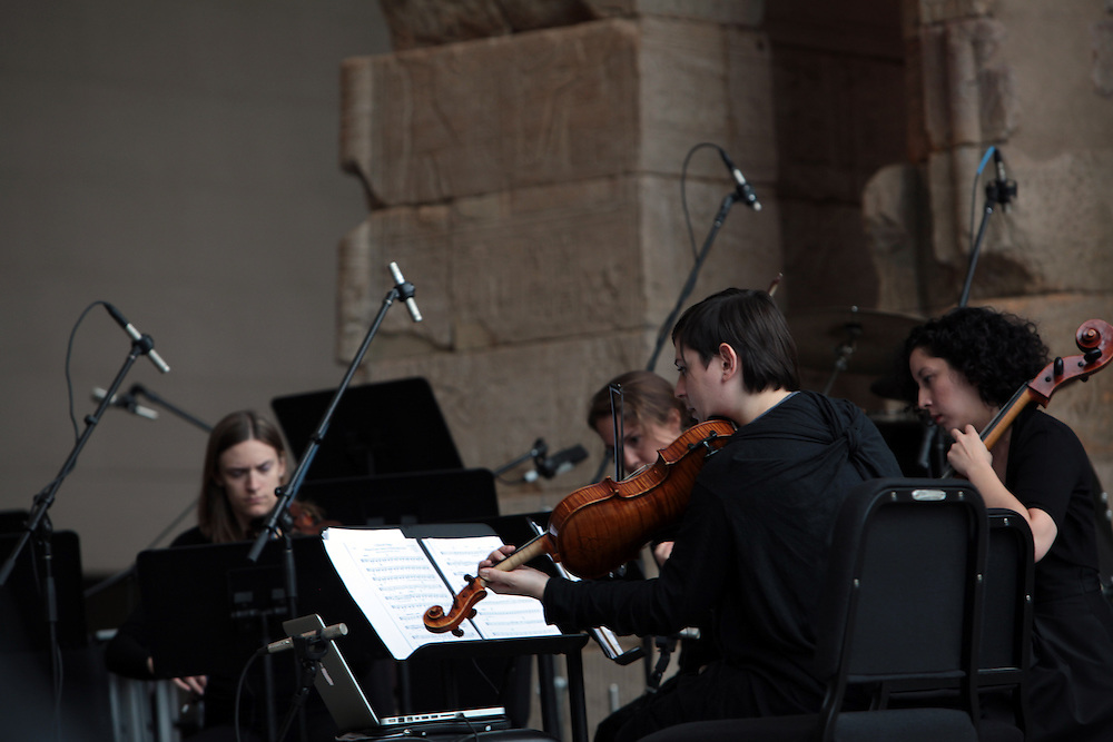 Remembering September 11, Wordless Music Orchestra conducted by Ryan McAdams presented at The Temple of Dendur in The Sackler Wing at The Metropolitan Museum of Art in Manhattan, NY on September 11, 2011...