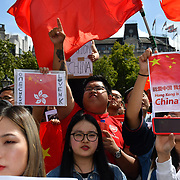 Chinese patriotic - Chinese patriotic Counter Protest against 8.17 UK Solidarity with HK Rally