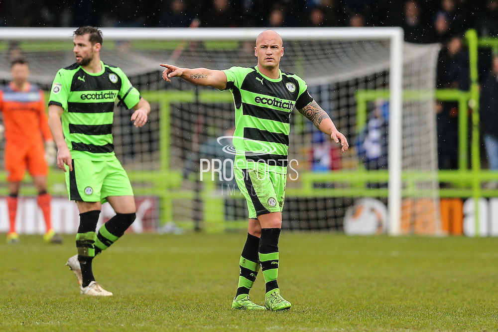 Forest Green's David Pipe during the Vanarama National League match between Forest Green Rovers and Eastleigh at the New Lawn, Forest Green, United Kingdom on 20 February 2016. Photo by Shane Healey.