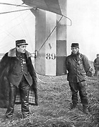 Flight-Sergeant Frantz and his mechanic Guenault who, on 5 October 1914, shot down a German Aviatik from their voisin biplane. First aerial victory of World War I