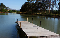 The dam at Lourensford Farm.