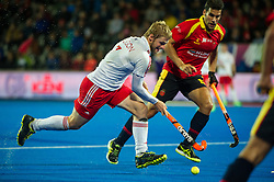 England's Ashley Jackson. England v Spain - Unibet EuroHockey Championships, Lee Valley Hockey & Tennis Centre, London, UK on 25 August 2015. Photo: Simon Parker