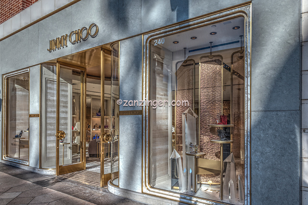 Jimmy Choo Rodeo Drive, Luxury Shopping, Quality, Boutique, American luxury specialty department stores, fashion and designer merchandise, Beverly Hills, Los Angeles CA,