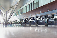 Full length view of check in area in airport