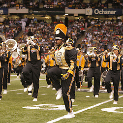 2008 November, 29: The Grambling State University band performs during the 35th annual State Farm Bayou Classic at the Louisiana Superdome in New Orleans, LA.  .