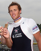Poznan, POLAND.  2006, FISA, Rowing World Cup, Men's Double Sculls Final. GBR M2X, Stephan  ROWBOTHAM,   'Malta Regatta course;  Poznan POLAND, Sat. 17.06.2006. © Peter Spurrier   ....[Mandatory Credit Peter Spurrier/ Intersport Images] Rowing Course:Malta Rowing Course, Poznan, POLAND