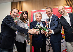 10.05.2019, Linz, AUT, Österreich Radrundfahrt 2019, Streckenpräsentation, im Bild v.l. Griesskirchner Abordnung, Dir. Harald Mayer, (ÖRV Präsident), Tourismus Kitzbühel, Franz Steinberger (Ö-Tour Direktor) // during the Stage Presentation of the Tour of Austria 2019. Linz, Austria on 2019/05/10. EXPA Pictures © 2019, PhotoCredit: EXPA/ Reinhard Eisenbauer