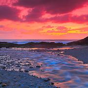 Bob Creek Sunset - Last Dusk - Oregon Coast